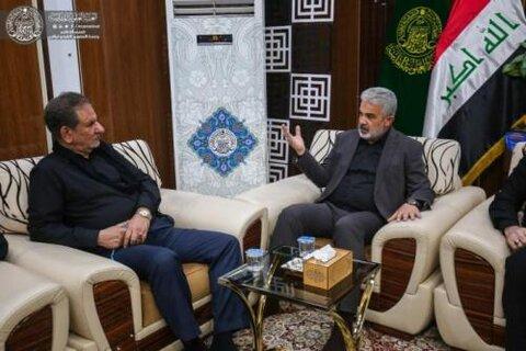 أمين عام العتبة العلوية يستقبل نائب الرئيس الإيراني