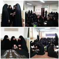 بازدید مدیر حوزه خواهران گلستان از دبیرستان صدرا
