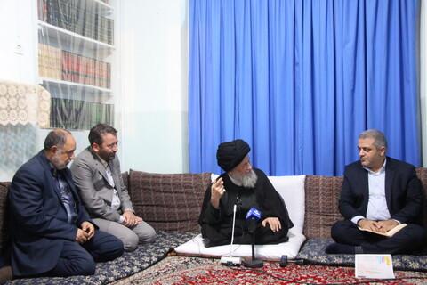 تصاویر/ دیدار رئیس مرکز آمار با حضرت آیت الله علوی گرگانی و آیت الله اعرافی