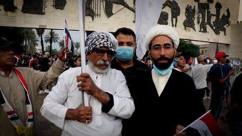 طلاب عراقی در تظاهرات بغداد