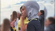 US athlete Muslim student disqualified from race for wearing hijab