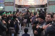 تصاویر/ عزاداری هیئات مذهبی آران و بیدگل در حرم حضرت محمد هلال بن علی (ع)  در روز ۲۸ صفر