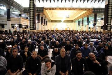 مراسم شهادت امام حسن عسکری(ع) در حرم بانوی کرامت برگزار شد