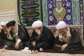 تصویری رپورٹ| آیت اللہ العظمی جوادی آملی کی موجودگی میں 28 صفر کی مناسبت سے مجلس عزاء منعقد