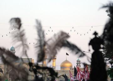 حرم رضوی سوگوار رحلت پیامبر اکرم(ص) و امام حسن مجتبی(ع)