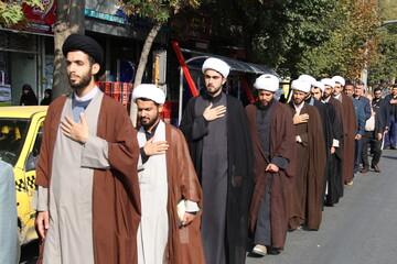 آیین عزاداری مردم شهرستان خوی برگزار شد + عکس