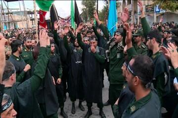 تصاویر/ مراسم سوگواری نیروهای مسلح کرمانشاه در ۲۸ صفر
