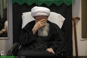 بالصور/ إقامة مجالس عزاء في ذكرى وفاة النبي (ص) واستشهاد الإمام الحسن المجتبى (ع) في بيوت مراجع الدين والعلماء بقم المقدسة