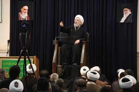 تصاویر/ مراسم یادبود مرحوم حجت الاسلام آژینی در دفتر رهبر انقلاب در قم