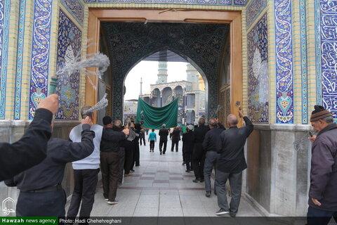 بالصور/ إقامة مجالس عزاء بمناسبة ذكرى وفاة النبي (ص) واستشهاد الإمام الحسن المجتبى (ع) في بيوت مراجع الدين والعلماء بقم المقدسة