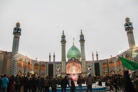 تصاویر/ عزاداری هیئات مذهبی آران و بیدگل در حرم هلال بن علی (ع)  در روز 28 صفر