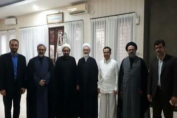 عیادت مدیر حوزههای علمیه از شخصیت دینی اندونزی