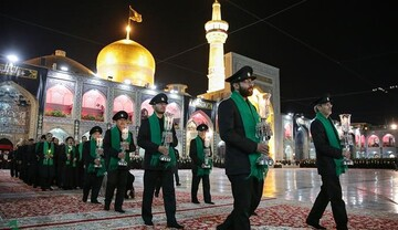Servants, officials observe traditional Khotbeh Khani ritual on martyrdom night of Imam Reza (AS)