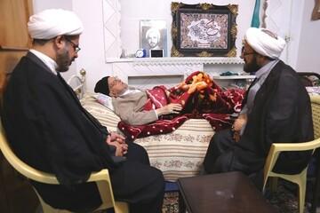 رئیس دفتر تبلیغات اسلامی از آیت الله امینی عیادت کرد