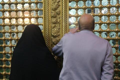 تصاویر/ حال و هوای حرم حضرت معصومه(س) در شب شهادت ثامن الحجج(ع)