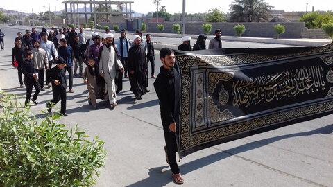 تصاویر/ دسته عزاداری طلاب مدارس علمیه جنوب کرمان در دهه آخر ماه صفر