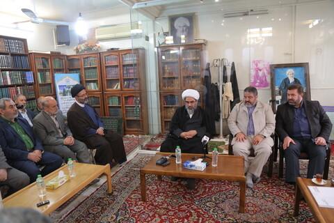 تصاویر/ دیدار رئیس پدافند غیرعامل کشور با مراجع و شخصیتهای حوزوی