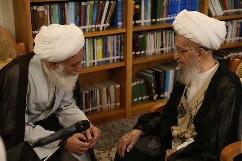 تصاویر/ دیدار مراجع، علما و مسئولین با آیت الله العظمی مکارم