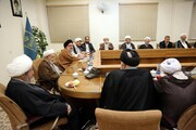 تصاویر/ نشست اعضای جامعه مدرسین حوزه با مسئولان قضایی قم