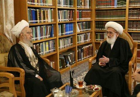 ملاقات آیت الله نوری همدانی از آیت الله مکارم شیرازی