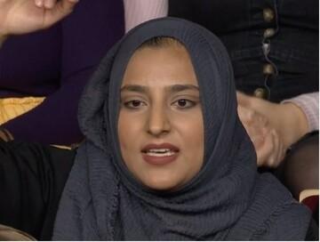 زن مسلمان با لحن کوبنده در برنامه تلویزیونی، شنوندگان را تحت تاثیر قرار داد