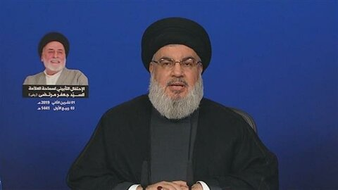 Hezbollah resistance fighters seeking to clear Lebanon skies of Israeli aircraft: Nasrallah