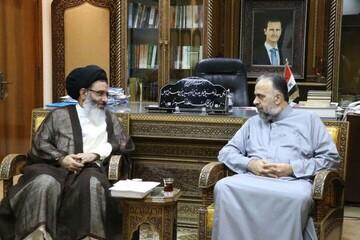 دیدار نماینده رهبر انقلاب در سوریه با وزیر اوقاف این کشور