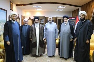 تصاویر/ دیدار نماینده رهبر انقلاب در سوریه با وزیر اوقاف این کشور