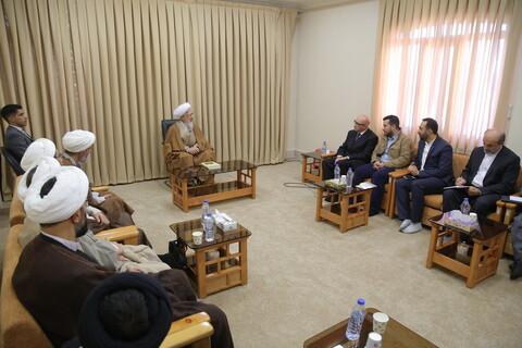 تصاویر/ دیدار سفیر یونان در ایران با آیت الله العظمی جوادی آملی