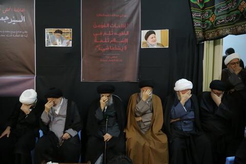 تصاویر/ مراسم بزرگداشت علامه سید جعفر مرتضی در مدرسه علمیه لبنانی های قم