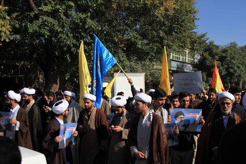 حضور حوزویان همدانی در راهپیمایی 13 آبان ماه