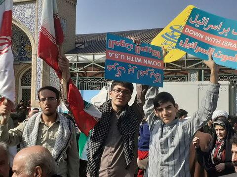 تصاویر/ راهپیمایی یوم الله 13 آبان در کرمانشاه