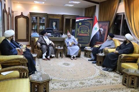 تصاویر/ دیدار نماینده رهبر انقلاب در سوریه با وزیر اوقاف
