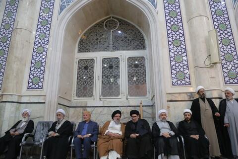 تصاویر/ مراسم بزرگداشت علامه سید جعفر مرتضی در مسجد اعظم قم
