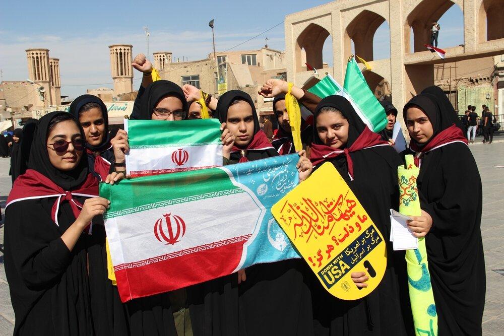 تصاویر/ راهپیمایی یوم الله ۱۳ آبان در یزد