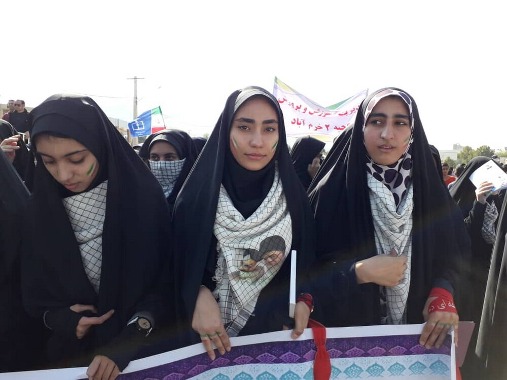 تصاویر/ راهپیمایی یوم الله ۱۳ آبان در خرم آباد
