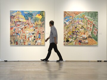 """نمایشگاه """"محراب"""" آثار هنرمندان مالزی را به نمایش گذاشت + تصاویر"""