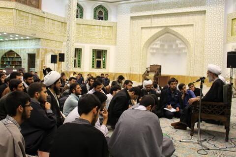 تصاویر/ جلسه درس اخلاق حوزه علمیه تهران در مدرسه علمیه امام خمینی(ره) ازگل