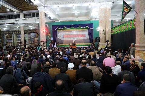 تصاویر/ حال و هوای مسجد مقدس جمکران در شب شهادت امام حسن عسکری(ع)