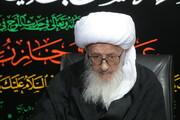 فیلم | روضه خوانی آیت الله العظمی وحید خراسانی