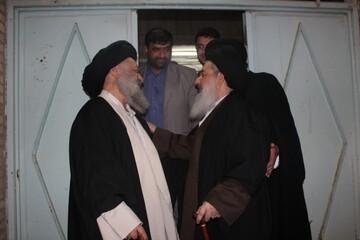 تصاویر/ دیدار امام جمعه بغداد با آیت الله موسوی جزایری