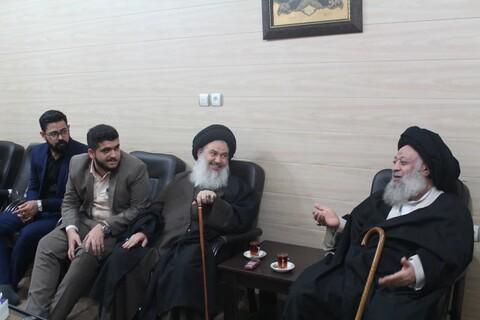 تصاویر/ دیدار امام جمعه باغداد با آیت الله موسوی جزایری
