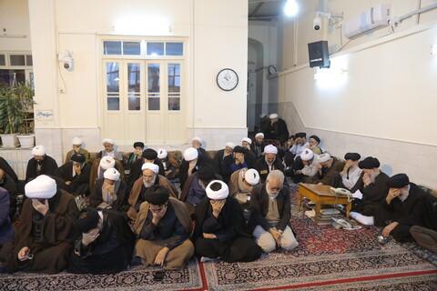 تصاویر/ مراسم عزاداری شهادت امام حسن عسکری(ع) در بیوت مراجع و علما
