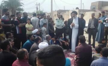 حضور نماینده ولی فقیه خوزستان در جمع مردم عین دو اهواز