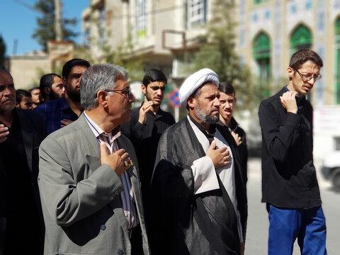 تصاویر/ دسته عزاداری مدرسه علمیه استهبان در روز شهادت امام حسن عسکری(ع)