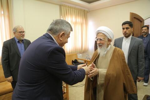 تصاویر/ دیدارهای جداگانه سرلشکر باقری و سفیر عراق با آیت الله العظمی جوادی آملی