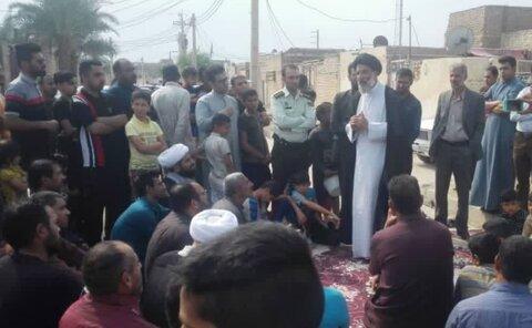 بازدید میدانی حجت الاسلام والمسلمین موسوی فرد از منطقه عین دو