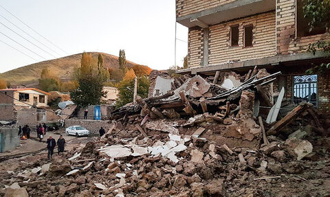 زلزله زده شهرستان میانه