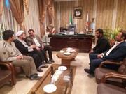 دیدار رییس عقیدتی سیاسی شهدای مهندسی نزاجا با شهردار بروجرد