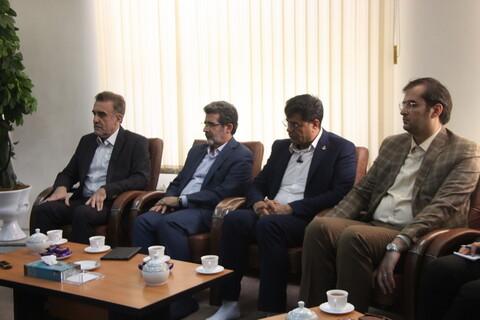 تصاویر/ دیدار رئیس دانشگاه علوم پزشکی با آیت الله اعرافی